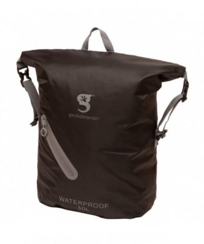 geckobrands Waterproof Lightweight Backpack Black