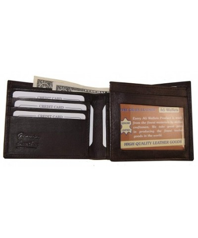 Wallets Leather Credit Passcase Flap Out
