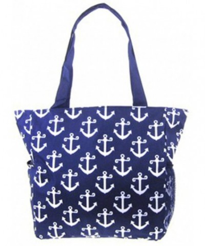 Anchor Print Nautical Canvas Travel