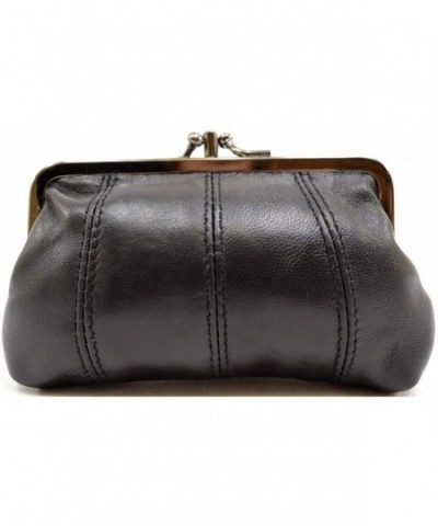 Ladies Womens Leather Double Holder