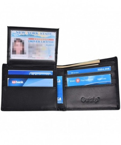 Blocking Wallets Leather Flipout Trifold