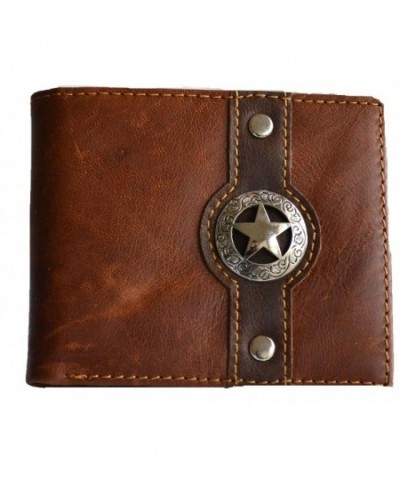 western concho bi fold hipster leather