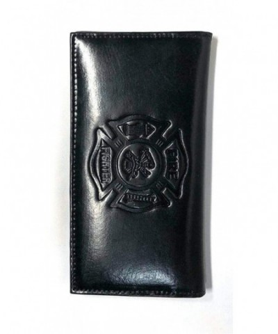 Fire Fighter Embossed Leather Checkbook