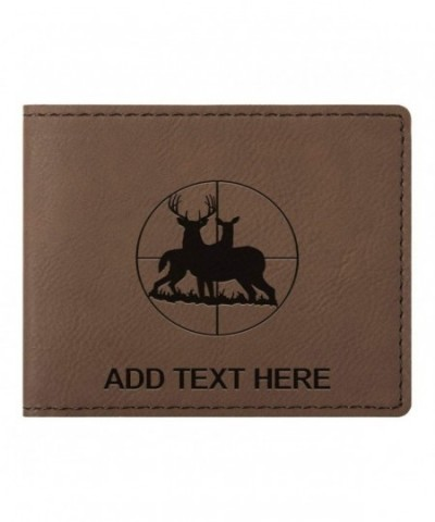 Personalized Scope Leather Bifold Wallet