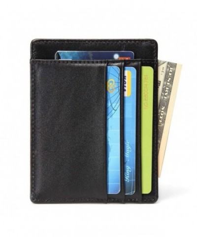 LET Credit Wallets Genuine Leather