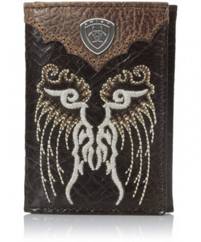 Ariat Fancy Embroidery Tri Fold Brown