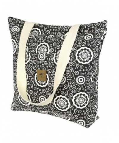 Canvas Shopping Tote Bag Zippered
