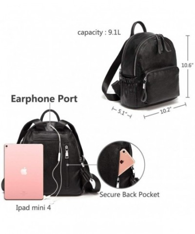 c9fa1a07cc6 Mini Backpack Purse-Faux Leather Small Backpack for Women - Black -  CH18DH7NR0D