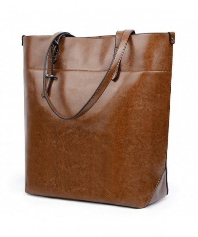 UTO Leather Shoulder Capacity Shopper
