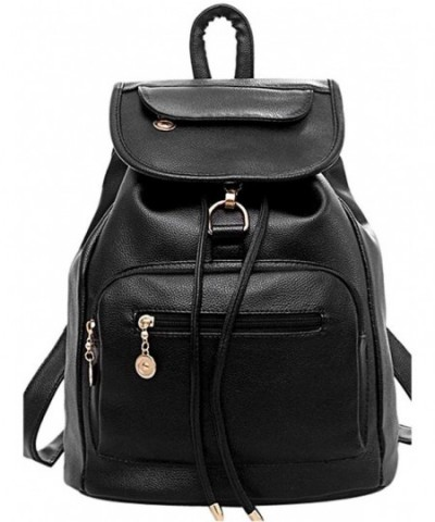 COOFIT Leather Backpack Schoolbag Daypack