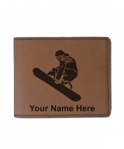 Leather Snowboarder Personalized Engraving Included