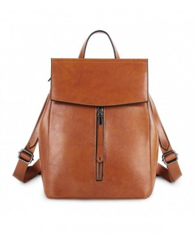 YALUXE Genuine Leather Backpack Shoulder