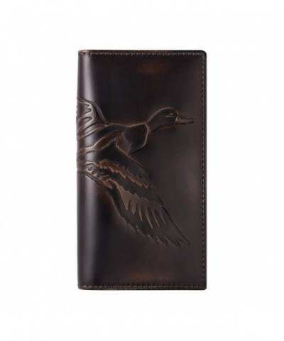 Co Wallet Premium Leather Hand Burnished Wallet Hunter
