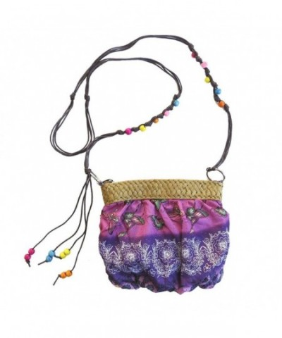 Small Handbag Beaded Crossbody Purple