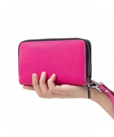 Contacts Genuine Leather Multifunction Wristlet