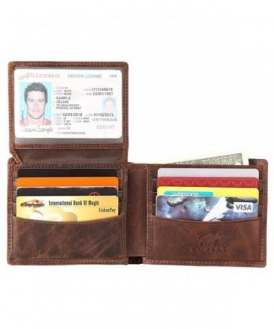 Wallet Genuine cowhide Leather Blocking