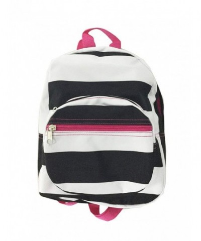 Mini Backpack Striped Black White