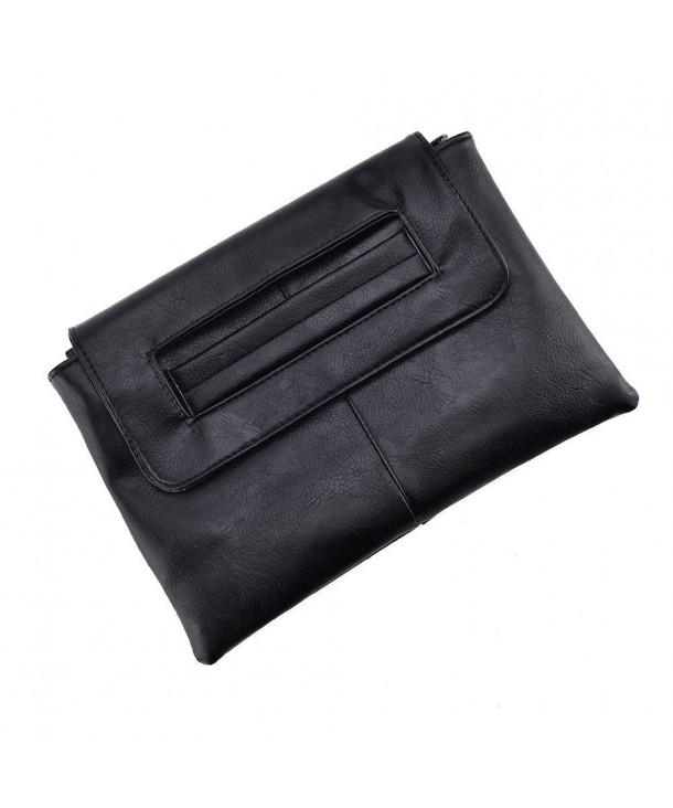 VRLEGEND Leather Wristlet Envelope Adjustable