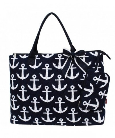 Quilted White Anchors Print Night