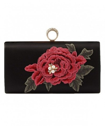 Embroidered Evening Clutch Beaded Finger