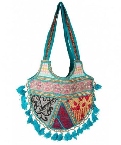 Tribe Azure Shoulder Colorful Handmade