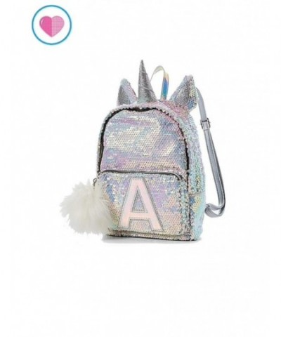 Justice Sequin Backpack Unicorn Initial