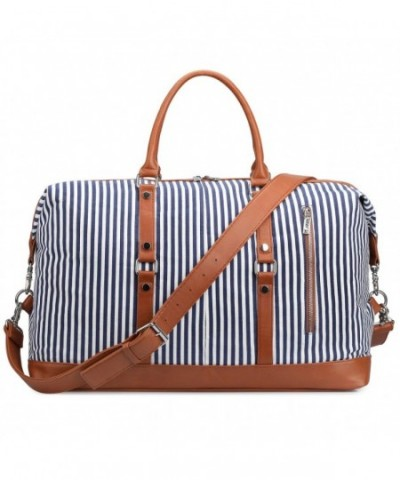 S ZONE Oversized Canvas Leather Weekender