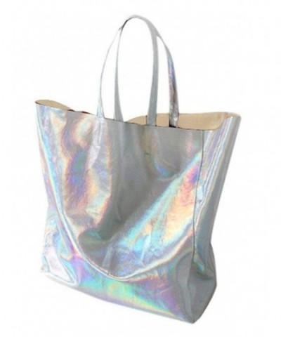 Choies Womens Hologram PU Shopper