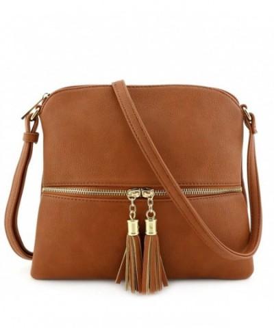 Lightweight Medium Crossbody Bag Tassel