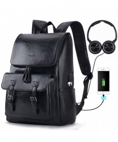 Backpacks Bageek Backpack Leather Charging