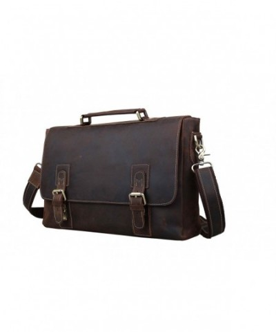 Leather Briefcases Laptop Messenger Shoulder
