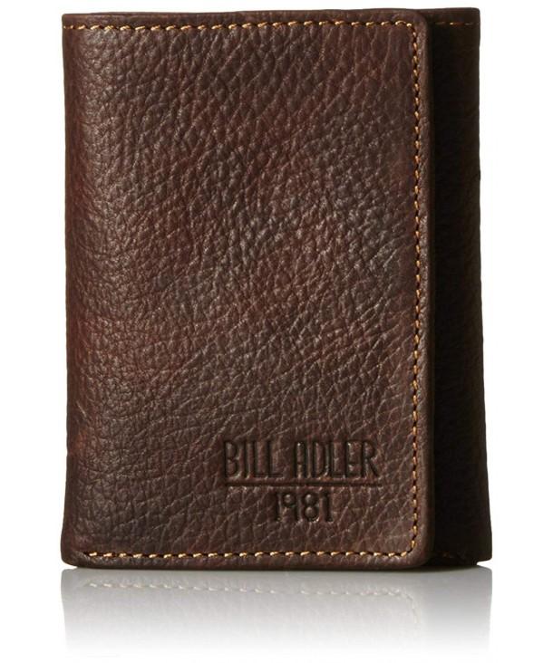 Bill Adler Pebble Trifold Brown