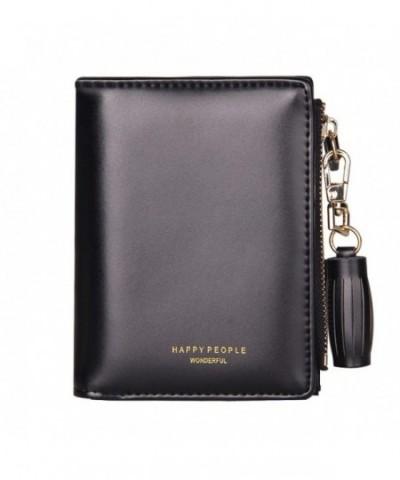 TJEtrade Wallets Leather Zipper Bifold