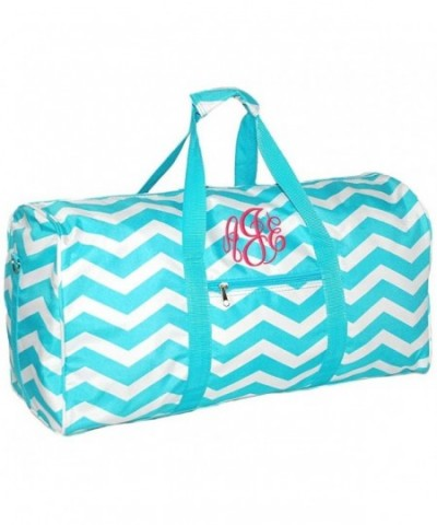 Chevron Monogrammed Carry Travel Duffle