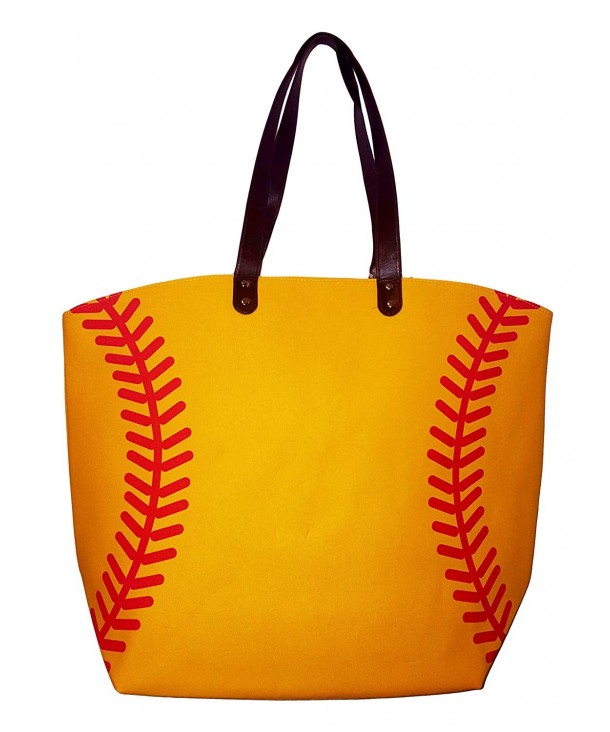X Large Yellow Softball Design Beach