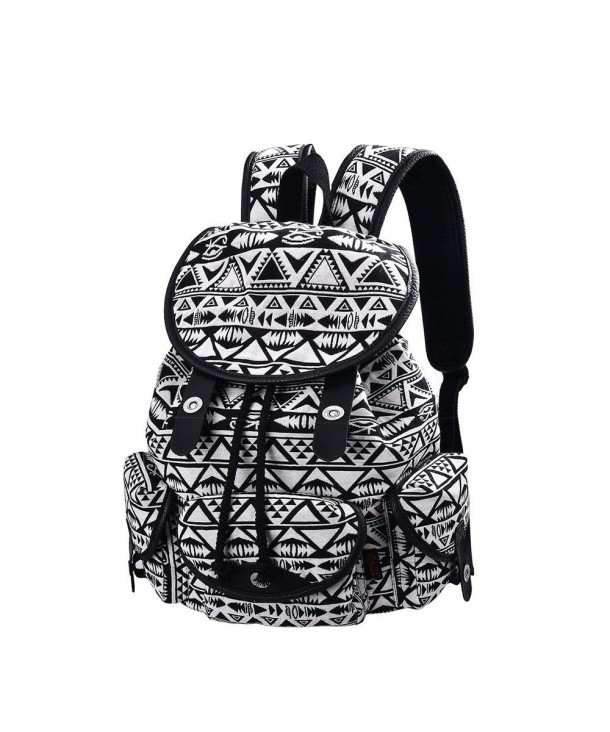 C LEATHERS Backpack School Canvas Schoolbag