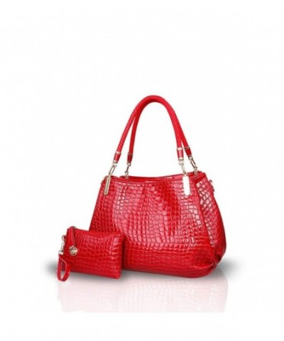 NICOLE DORIS Crocodile Shoulder Crossbody