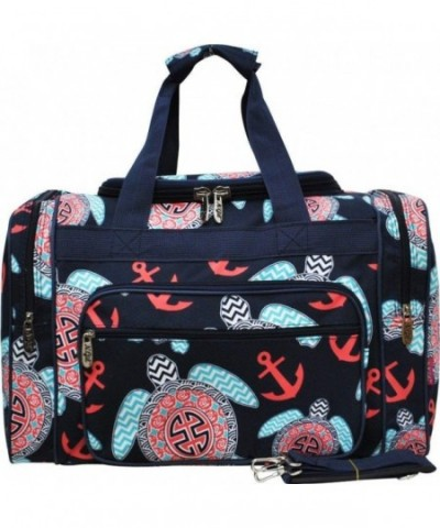 Turtle Anchor Print Carry Duffle