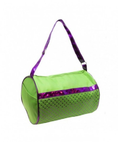 Girls Duffel Metallic Purple Sequin
