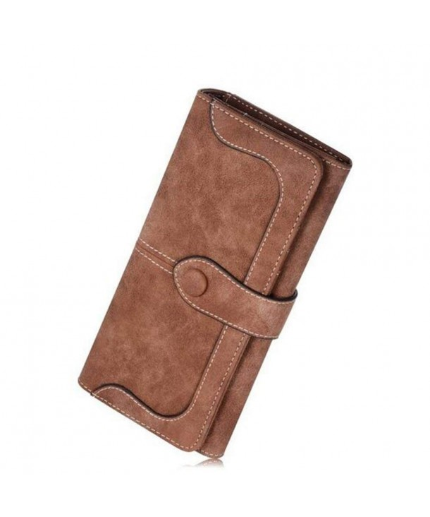Womens Wallet Vintage Leather Checkbook