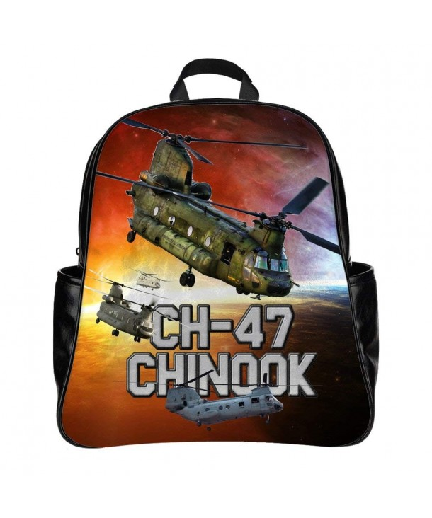 Personalized Backpack Schoolbag Helicopter Military