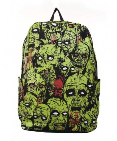 Banned Zombie Backpack Black Green