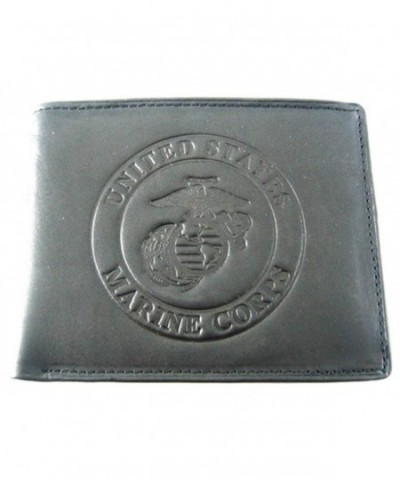 Marines Cowhide Leather Billfold Wallet