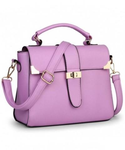 Turn lock Leather Messenger Shoulder Handbag