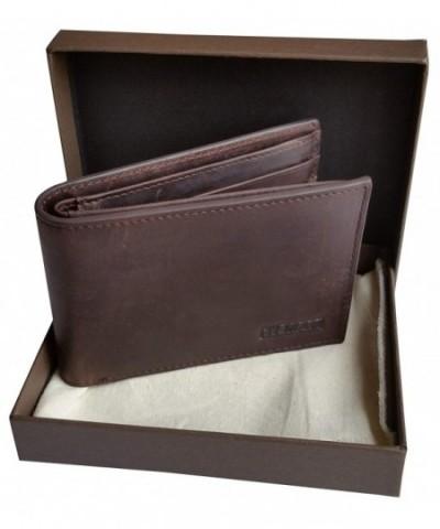 Leather Premium Vintage Bi Fold TITANIUM MAN
