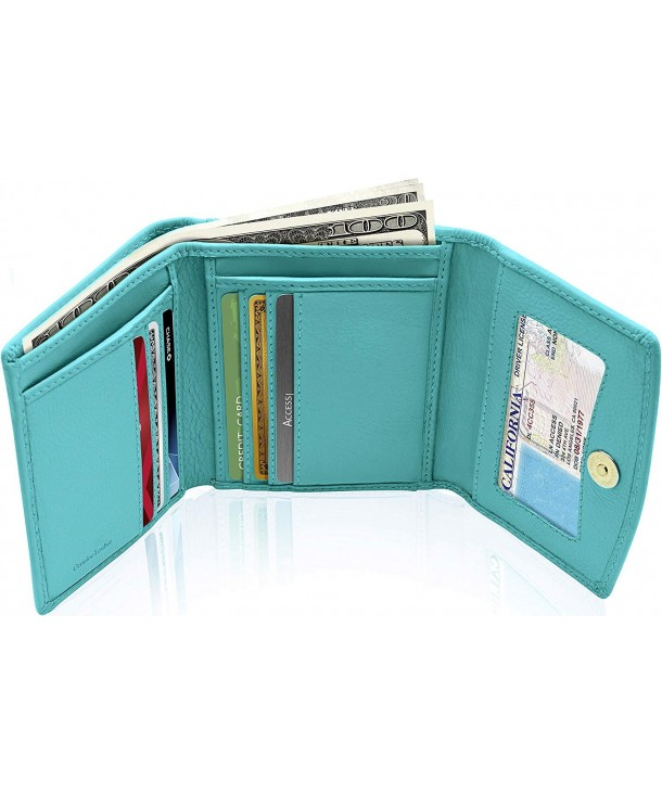 Small Leather Trifold Wallets Women