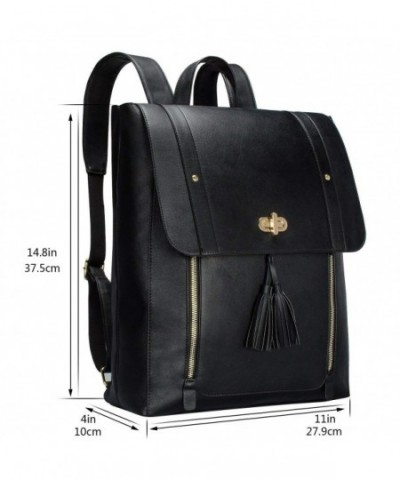 Womens Backpack Purse Pu Leather Rucksack Fit 14 Inch Laptop School Bag Daypack Cs18dlamlur