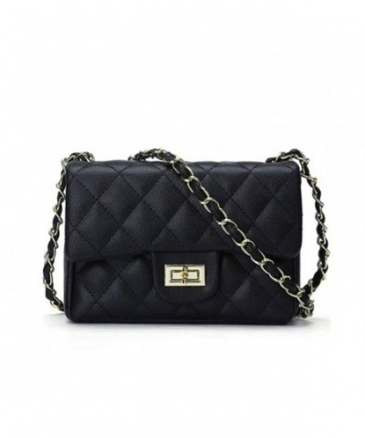 Jollque Leather Crossbody Shoulder Quilted