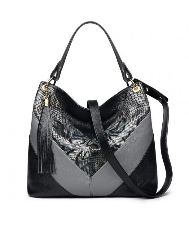 ZOOLER Leahter Handbags Shoulder Colorblock