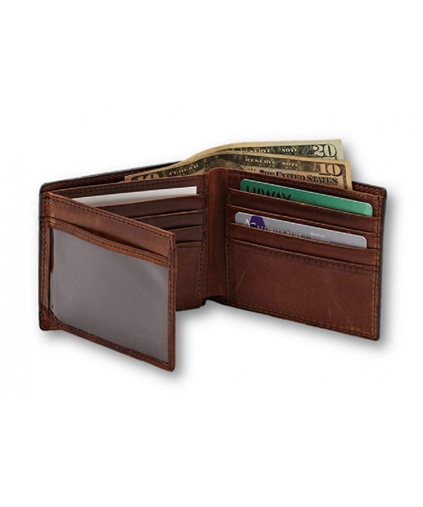 Webers Leather Hunters Billfold Clear view